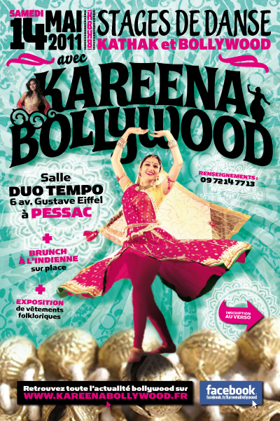 Kareena Bollywood, flyer cours de danse indienne