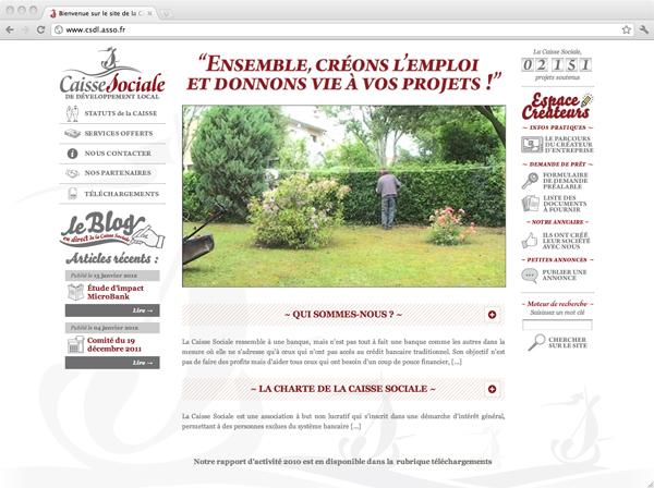 Site Internet de la Caisse Sociale