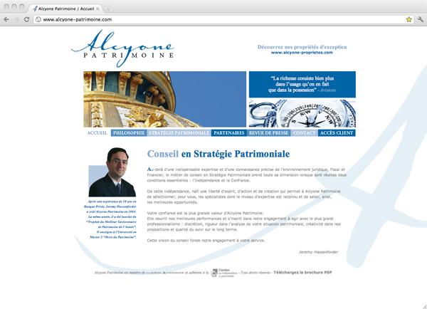 Site Internet Alcyone Patrimoine