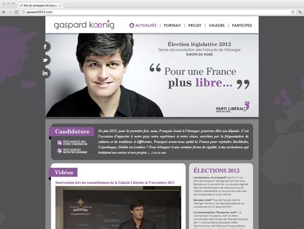 site Internet gaspard2012.com