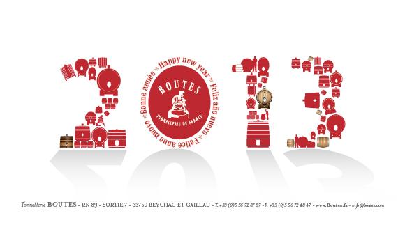 Carte de vœux Boutes 2013